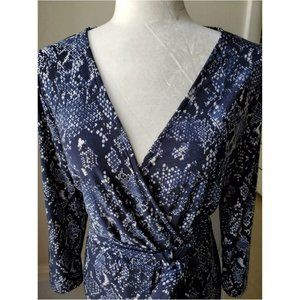 INC International Concepts Dresses - INC elegant blue Dress 3/4 sleeve size L